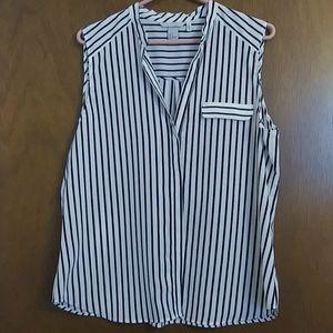 H&M semi sheer sleeveless blouse